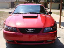 I want to add a billet with the pony emblem off to the side like a cobra.