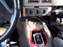Shifter Area after removal of stock shifter