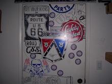 Garage artwork by me.