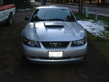 this is part of a before and after picture because i installed a grill delet from american muscle .com !