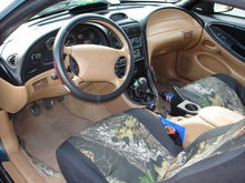 still had the ford floor covers when I picked the car up, after the suspension was put on it