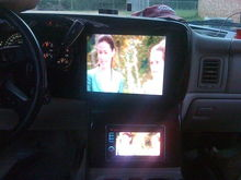 "12"" in dash and Kenwood HU below"