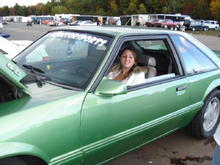 Me at New england dragway in my fiance's stang.