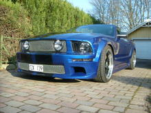 mustang gt 2005 sonic blue cab