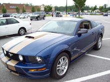 2006 GT, Blue With Gold Painted Stripes