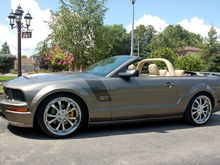 Tungston GT w/charcoal (foose style) hood stripes.