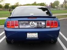 Mustang 9/11 Rear Decklid Panel (mustangblackout@yahoo.com)