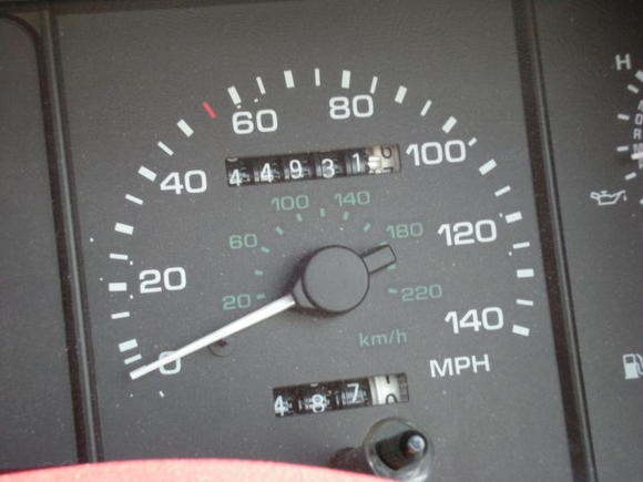 110 Yep, read it and weep, weep some more, 44,xxx original miles on 6/28/09. Garage kept its whole life.