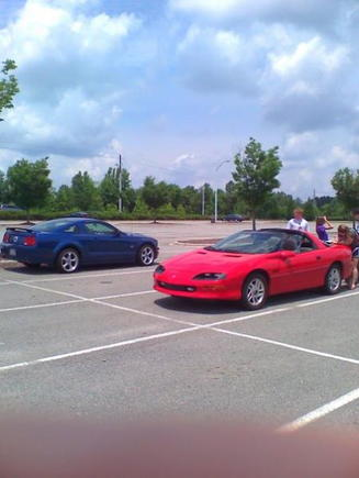 last day of junior year - my stang and my best friends z28