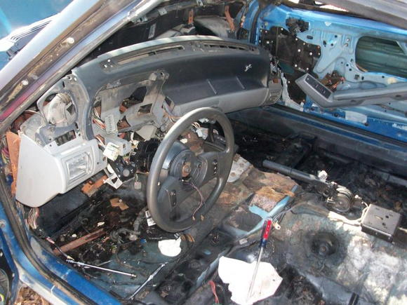 Removing the dash to get to the heater core. Also, to troubleshoot the flash/hazrd circuit.