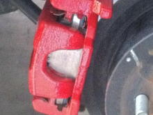 Racing RED caliper paint added to the calipers