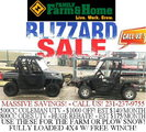 Blizzard Sale! 4x4 UTVS at Family Farm and Home