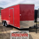NEW 7X16 Tandem Axle Enclosed Cargo Trailer