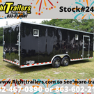 2019 8.5x24 Race Trailer w/ Escape Door