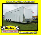 2020 8.5x32 Lark Race Trailer Triple 7K Axles with Side Cabi