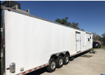 PRICE REDUCED!  53' HORTON CAR HAULER W DELUXE LIVING QTRS