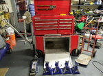 Pit cart with jack, jackstands, tire hand truck