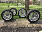"""Mustang 19"""" staggered Track Pack wheels and tires."""