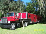 1995 Vintage Trailer and 1989 Ford L8000 Combination