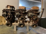 Fiat manifold with 3 dual choke down draft Weber's.&nb