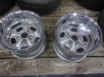 2 NEW 15X10 CHROME SPOKE MAGS