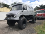 Fully customized Mercedes Diesel Unimog 416 with extended ca