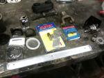 black vynal interior material garage  sale parts