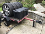 Utility Trailer - Race Track Tire Tool Box - lockable