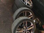 2014 -2018 C7 corvette factory chrome wheels with tires and