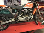 Harley Sportster Dirtbike Project with Lift Table