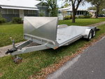 20 ft. Open aluminum car trailer