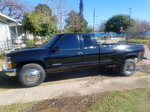 black chevy 1996 chevy dually extended cab for trade