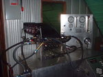 Fuel pump flow bench.