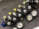 Aeromotive modular fuel pressure regulator set up.