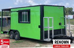8.5x20TA Electric Green BBQ/Concession Trailer