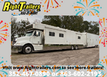 Motorcoach and Stacker Trailer