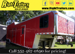 2000 8.5x44 INDIANA RACE TRAILER w LIVING QUATERS for Sale