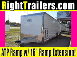 28ft White ATC Quest Race Trailer w/ All Aluminum Frame
