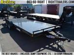 Lamar 20' Steel Deck Car Hauler 7x20 w/ 5' Ramps & D-rin