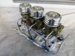 POLISHED SBC TRI POWER SETUP  for sale $950