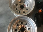2- weld drag rims  for sale $250