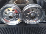 Welds draglites 15x3 front spindle mount wheels  for sale $400