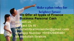 We offer all types of finance business personal cash  for sale $90,000