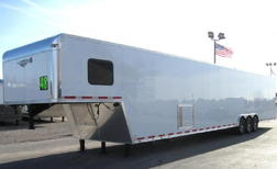 READY 8/4 2021 48' Gooseneck Trailer with LARGE BATHROOM