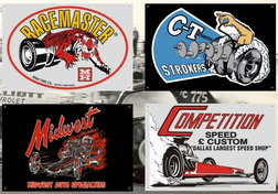 Garage Banner Collection from MERCHANTS OF SPEED  for sale $39