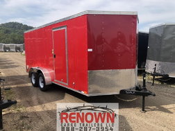 NEW 7X16 Tandem Axle Enclosed Cargo Trailer
