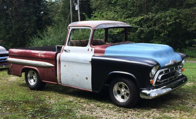 1957 3100 BBW C4 Suspension Fleetside