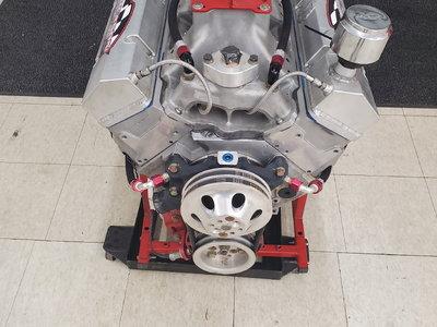 428 cubic inch SBC all aluminum dry sump engine
