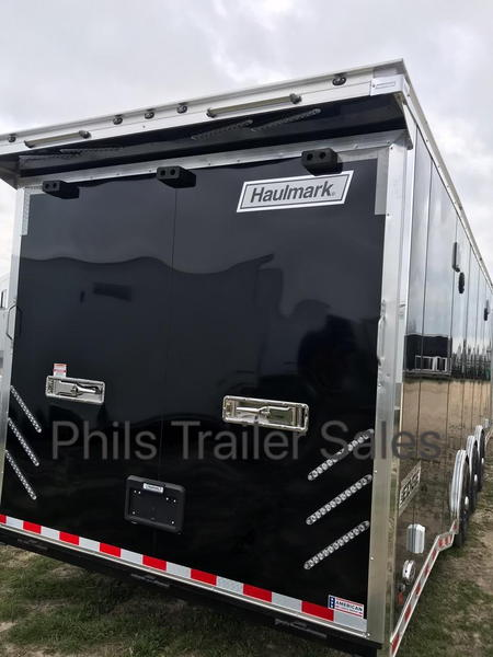 34' Haulmark Edge Pro race Trailer loaded back in stock extr  for Sale $25,500