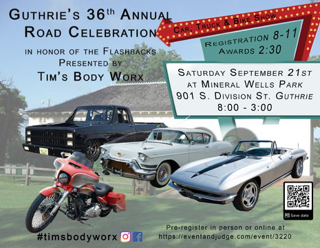 9/21/19 - Guthrie's 36th Road Celebration, Car, Truck & Bike Show